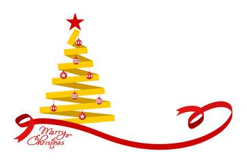 Flat Christmas tree.