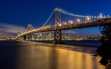 Bay Bridge San Francisco Skyline at Night