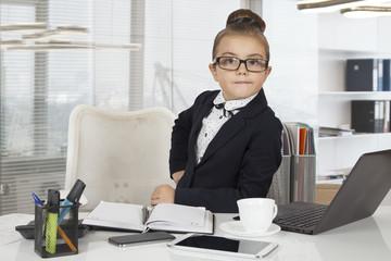 Little office worker