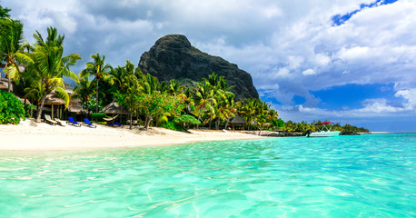 Wall Mural - beautiful Mauritius island. Le Morne beach