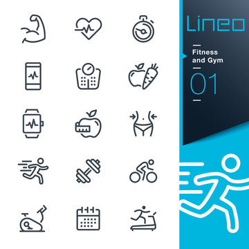 Lineo - Fitness and Gym line icons