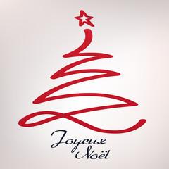 Carte de vœux - Joyeux Noël - Sapin de noël