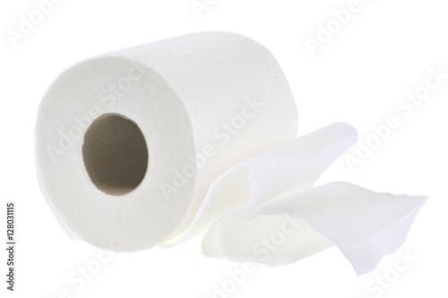 rouleau de papier toilette sur fond blanc imagens e fotos de stock royalty free no. Black Bedroom Furniture Sets. Home Design Ideas