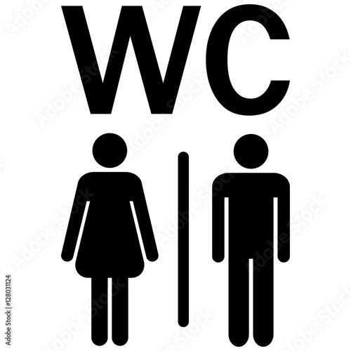 wc sign men women immagini e vettoriali royalty free su file 128031124. Black Bedroom Furniture Sets. Home Design Ideas