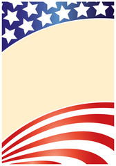 USA flag frame wave pattern for your design with blank space for text.