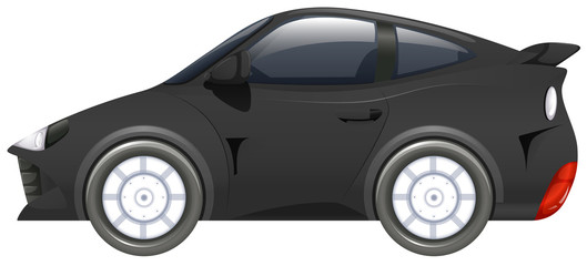 Sport car in black color
