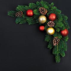 Christmas fir branches