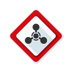Chemical hazard sign