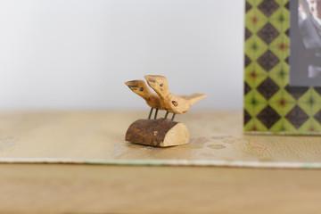 wooden toy birds