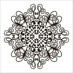 Bohemian Indian Mandala print.