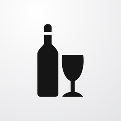 wine bottle icon illustration