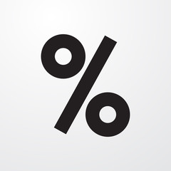 percent icon illustration