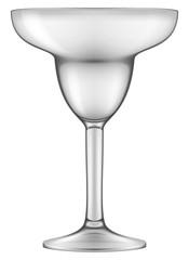 Empty Margarita glass. Vector illustration.