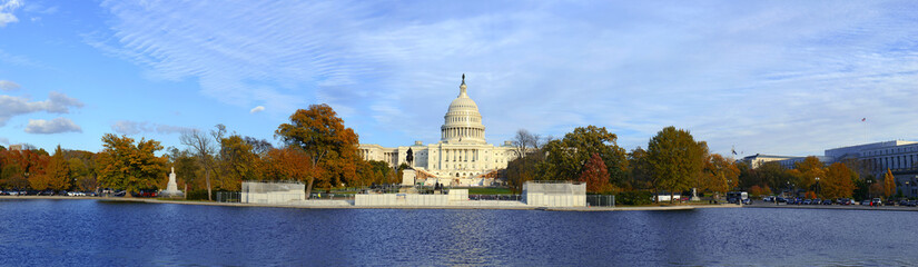 Panoramic image of The Capitol Building in Washington DC, capital of the United States of America