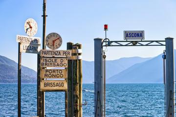 Fragment of Pier in Ascona in Ticino canton of Switzerland