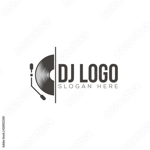 u0026quot dj logo design vector u0026quot  stock image and royalty