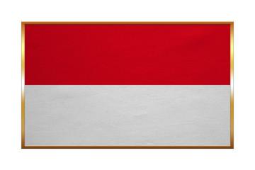 Flag of Indonesia, Monaco, Hesse, golden frame