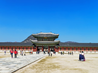Wall Murals Beijing People at Third Inner Gate of Gyeongbokgung Palace in Seoul