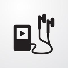 mp3 player icon illustration