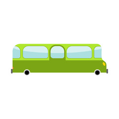 Bus cartoon style. Transport on white background. Car isolated
