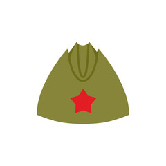 Retro military forage-cap Russian soldiers. Vintage Army cap wit