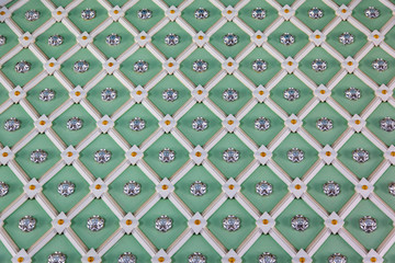 Geometric decoration on the wall. Uzbekistan