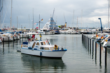 Segelhafen Marina an der Ostsee