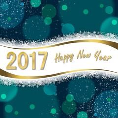 Greeting card 2017 Happy New Year (v)