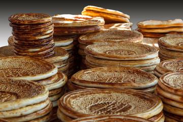 Traditional Uzbek bread. Uzbekistan