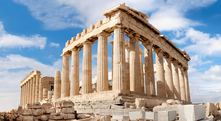 Fototapete - Parthenon on the Acropolis in Athens, Greece