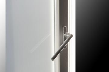 Window handle on wooden window