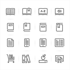Book icons with White Background