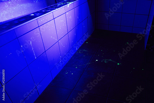 uv light bathroom quot place of crime in bathroom onder uv light quot stock photo 14898