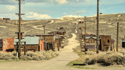 The ghost town of Bodie - California Wall mural