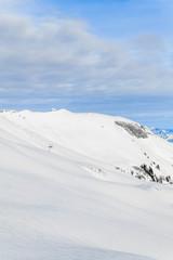 mountain landscape. Beautiful winter landscape