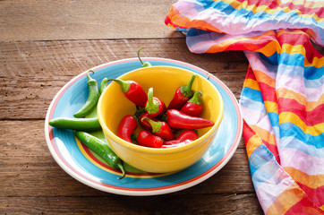 Cinco De Mayo image with serrano and red fresno peppers