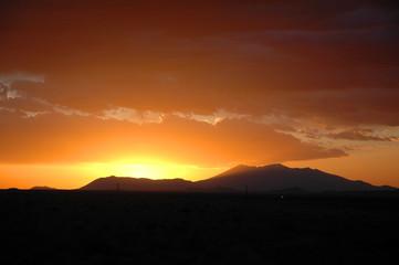 Sunset on Humphreys Peak Near Flagstaff Arizona