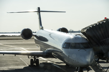 private jet at the aerodrome