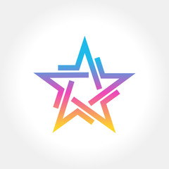 Colorful Star logo and icon design