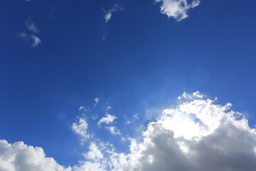 nice blue sky with white clouds