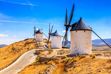 Consuegra, Spain. Windmills of Don Quixote in Toledo province.