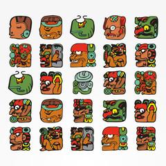 vector mayan symbols