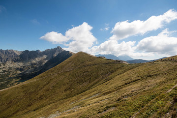 Tatry. Poland and Slovakia boundary, autumn landskapes.