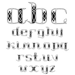 beautiful Celtic font with patterns