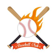 poster baseball crossed bats and ball stars vector illustration eps 10