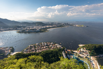 Aerial view of Rio de Janeiro from the Sugarloaf Mountain