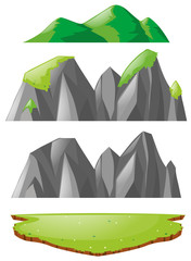 Three types of mountains