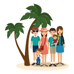 summer vacations holiday poster vector illustration design