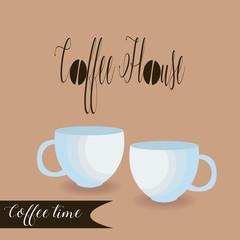 Coffee house vector logo design template. Vector coffee shop labels.