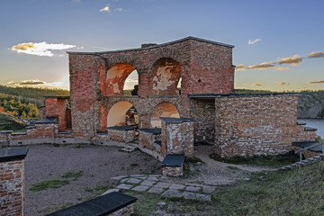 Ruins of Old Russian Fortress Notvikstornet near Bomarsund, Alan